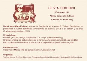 Debate con Silvia Federici, Miércoles 7 de mayo,19.00h