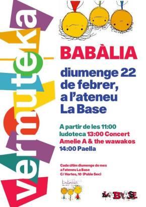 Diumenge 22 de febrer torna laVermuteka!!!!!