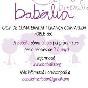 A Babalia obrim Places pel Pròxim curs!